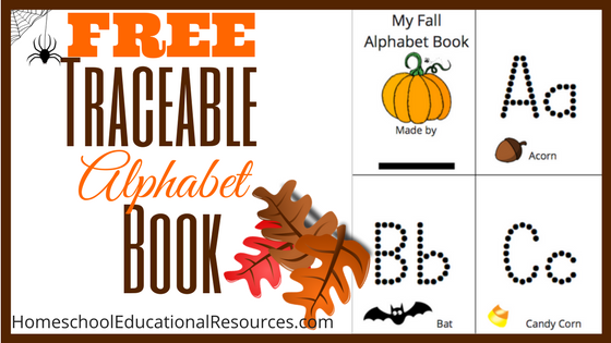 Traceable Alphabet Book: Free Printable (Fall Theme!)