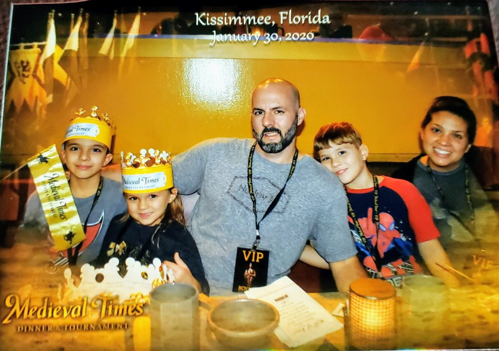 Yellow knight family photo